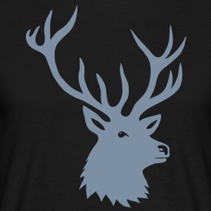 cerf ramure bois corne cornes animal sauvage chass Tee shirts - T-shirt Homme