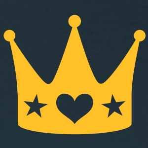 Crown with Heart and Stars Queen King coronet T-Shirts - Women's T-Shirt