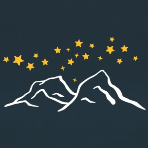 Mountains at night. Starry Sky Winter Sports T-Shirts - Women's T-Shirt
