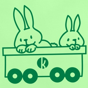 Hasen im Eisenbahnwagen - Rabbits in the train Shirts - Baby T-Shirt