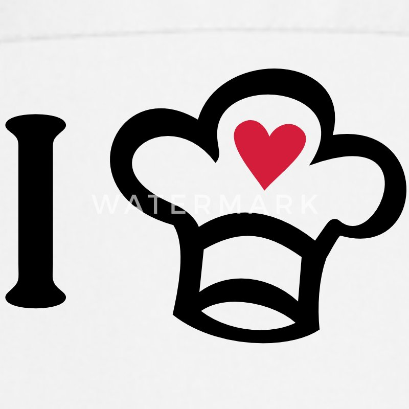I love cooking. Chef´s hat with a heart. Chef Cook  Aprons - Cooking Apron