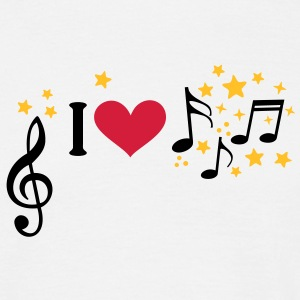 I love music. Add your own text, star, T-Shirts - Men's T-Shirt
