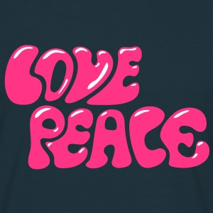 Love Peace 70s retro style flower power T-Shirts - Men's T-Shirt