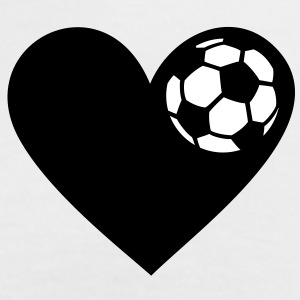 I heart football. I love soccer ball heart T-Shirts - Women's Ringer T-Shirt