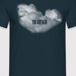 cloud you are here T-shirts - Mannen T-shirt