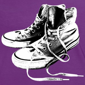 Sneakers Black And White T-Shirts - Women's Ringer T-Shirt