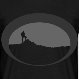 Hiker silhouette - Men's T-Shirt