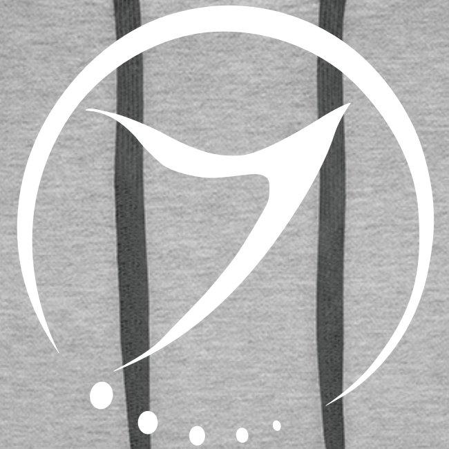 Mens Hoodie (white logo front)
