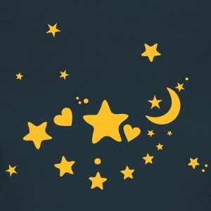 Starry night. Star, Sky, Moon, Hearts T-Shirts - Women's T-Shirt