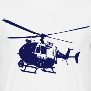 Helicoptere Police EC 145 Dragon - T-shirt Homme