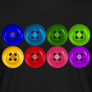 fake buttons: rainbow T-shirt - Men's T-Shirt