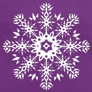 Snowflake Ornament Design T-Shirts - Women's Ringer T-Shirt