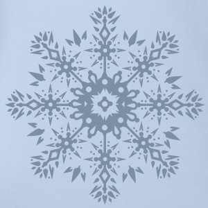 Snowflake Ornament Design Shirts - Organic Short-sleeved Baby Bodysuit