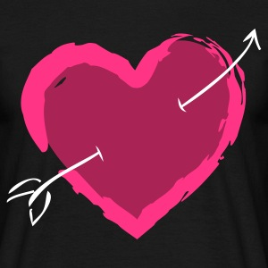 Arrow Heart (v1, 3c, MPen) - Men's T-Shirt