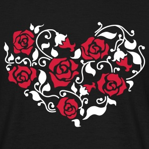 Roses Heart (v1, 2c, MPen) - Men's T-Shirt