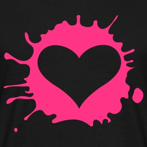 Heart Splatter (v1, 1c, MPen) - Men's T-Shirt