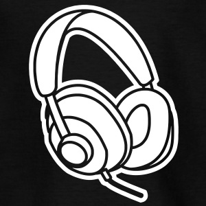 Audiophile Headphones Music Player Beat Bass DJ Tee shirts - T-shirt Enfant