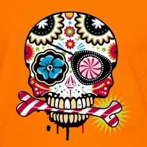 Skull with eye patch and candy cane T-Shirts - Men's Ringer Shirt