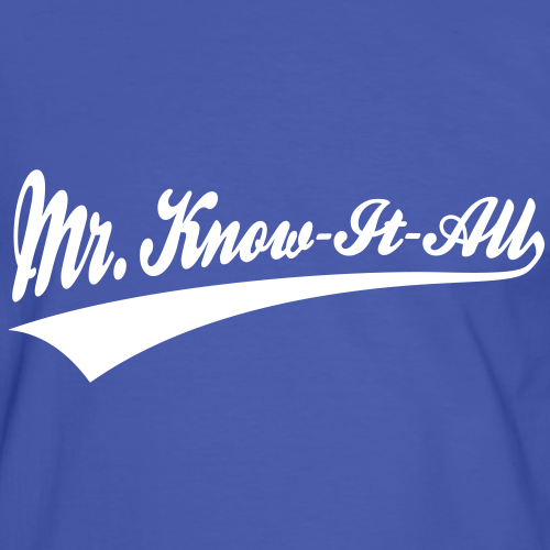 Geek Pride: Mr. Know-It-All