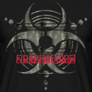 Metal BIOHAZARD crop circle + 21.12.2012 | unisex  - Männer T-Shirt