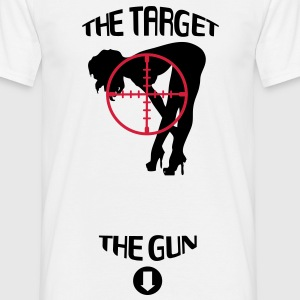 Target and Gun T-Shirts - Men's T-Shirt