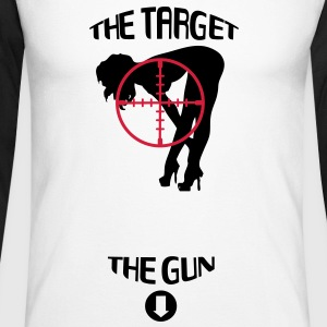 The Target & The Gun Tee shirts manches longues - T-shirt baseball manches longues Homme