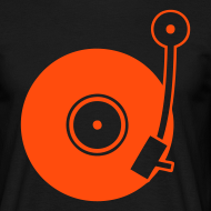 Motiv ~ Turntable - Orange - Classic T-Shirt by B&C (Men)