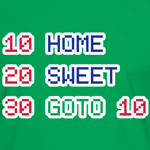 BASIC: Home Sweet GOTO 10 (for green background)