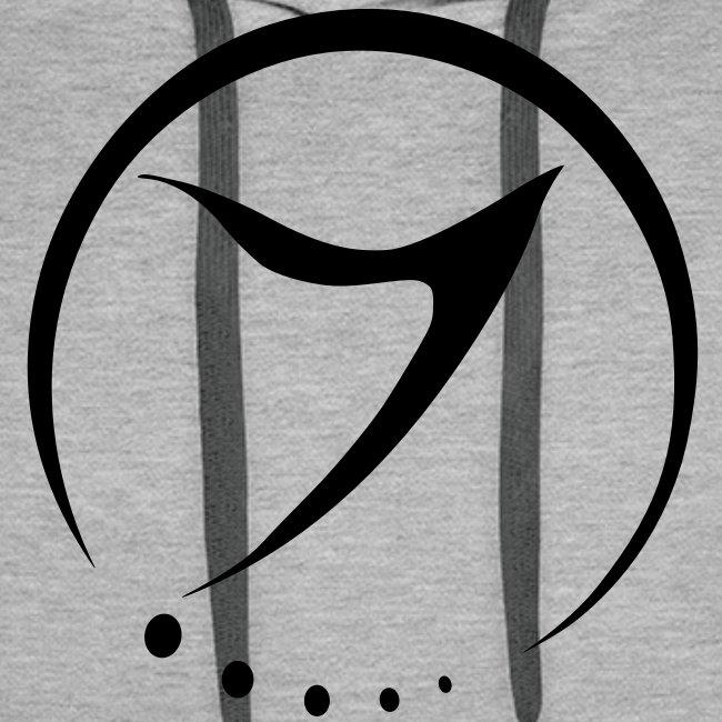 Mens Hoodie (black logo front)