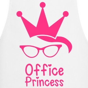 office princess with cat eyes glasses and a crown  Aprons - Cooking Apron