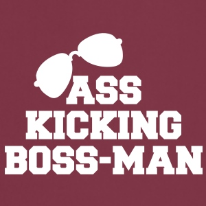 Ass kicking boss man with aviator glasses  Aprons - Cooking Apron