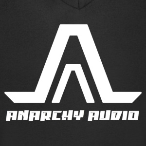 Anarchy Audio Logo White T-Shirts - Men's V-Neck T-Shirt