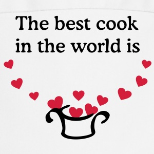 The best cook in the world is ... Your name  Apron - Cooking Apron