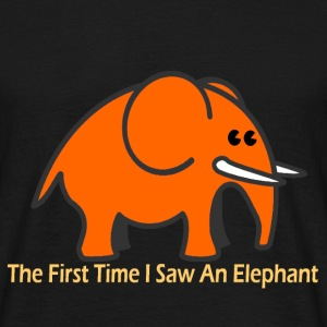 The First Time I Saw An Elephant - Garçon Orange - T-shirt Homme