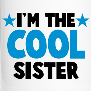 I'm the COOL sister! with stars Bottles & Mugs - Travel Mug