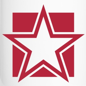 FUNKY red STAR outlined on a Square Bottles & Mugs - Travel Mug