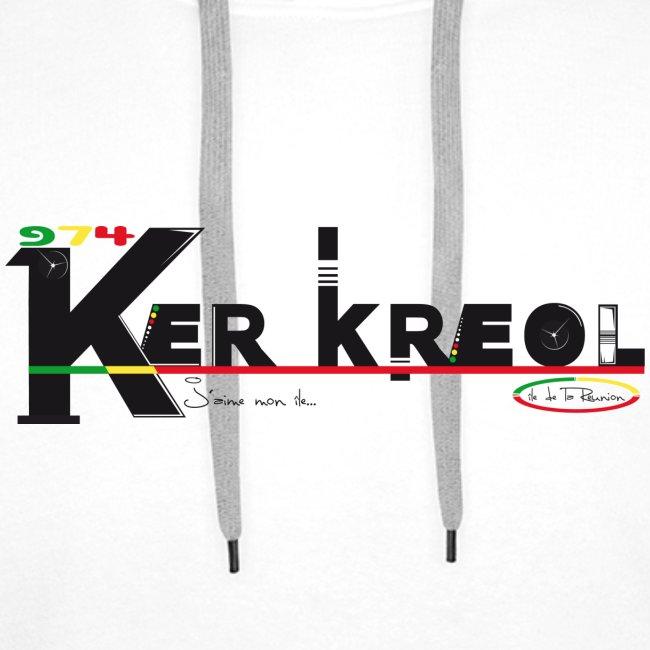 Sweat-shirt à capuche Homme 974 Ker Kreol  - J'aime mon île 2013