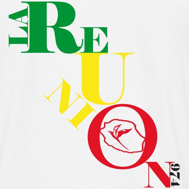 Tee shirt classique Homme 974 Ker Kreol  - J'aime mon île 2013