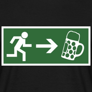 Emergency exit beer  T-Shirts - Men's T-Shirt
