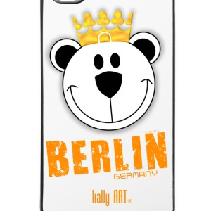 Berlin germany art bär orange für iPhone© by ka - iPhone 4/4s Hard Case