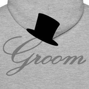 Blended grey Groom Jumpers - Men's Premium Hoodie
