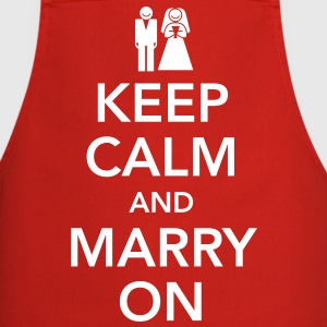Keep calm and marry on Forklær - Kokkeforkle