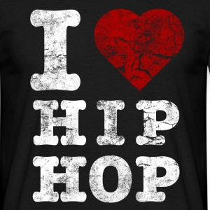 i_love_hiphop02_vintage_hell T-shirts - Mannen T-shirt