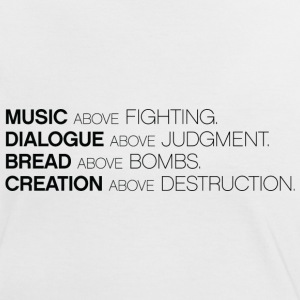 MUSIC ABOVE FIGHTING Tee - Vrouwen contrastshirt