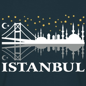 Istanbul skyline at night Moschee Mond Stern T-Shi - Männer T-Shirt