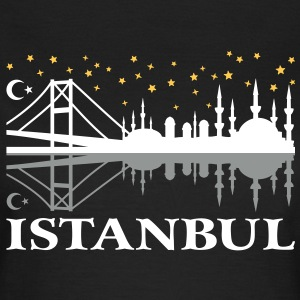 Istanbul skyline at night Moschee Mond Stern T-Shi - Frauen T-Shirt