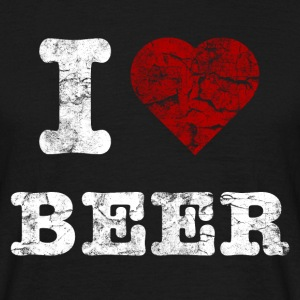 i_love_beer_vintage_hell T-shirts - Mannen T-shirt