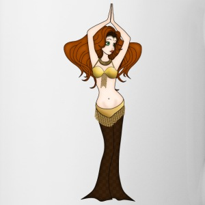 Auburn Hair Bellydancer in Brown and Gold Costume - Mug