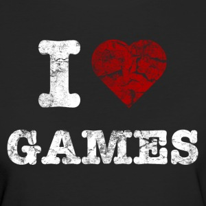 i_love_games_vintage_hell T-Shirts - Frauen Bio-T-Shirt