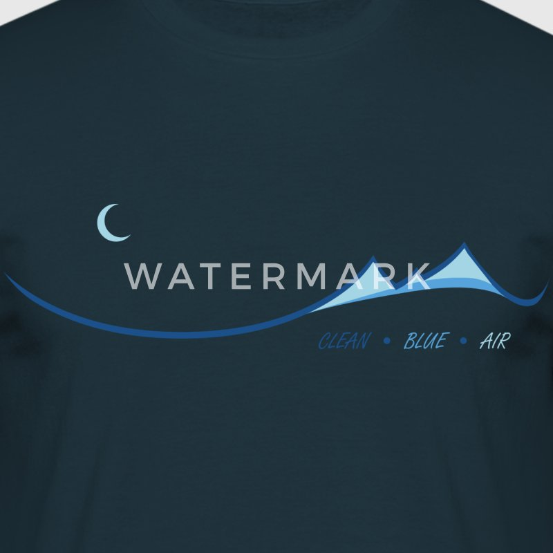 Clean Blue Air - Men's T-Shirt
